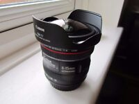 Canon EF 8-15mm F/4.0 L USM Fisheye Zoom Lens with Box