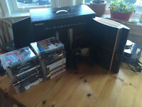 Sony Playstation 3 40GB boxed, 34 games, 2 controllers, good condition, PS3