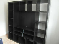 Ikea Expedit/Kallax Tv Storage Shelving Bookcase Unit in Black/Brown