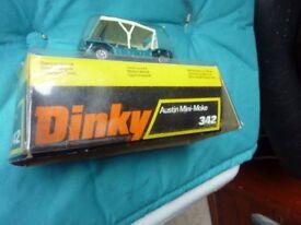 Rare Vintage Old Collectible Dinky Toy Austin Mini Moke 342, boxed