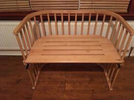 Twin baby cot, co sleeper baby bay