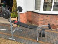ProPower Weights Bench with 30 kg weights
