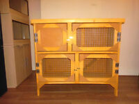 3ft 2 tier rabbit/guinea pig hutch in harvest gold