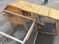 Chicken coop with extra home made run