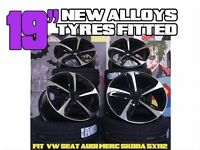 """4 NEW 19"""" STYLED ALLOYS WHEELS TYRES AUDI SEAT VW SKODA FITTED S LINE A7 S7 RS7 A8 S8 Q3 SQ3 Q5 SQ5"""