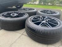 Set of Mercedes Vito / V Class Alloys 18'' Gloss Black