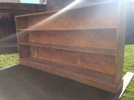 OLD SCHOOL / vintage school book shelves / oak hardwood / bare wood / vintage / retro