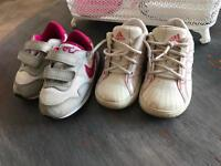 2 pairs of toddler Shoes
