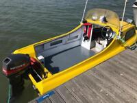 Sea Hog 14 ft fishing boat and 20 hp engine