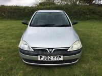 2002 1.2 Vauxhall Corsa 1.2 Club 16V Spares or Repairs