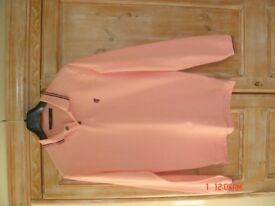 Pringle 1815 all cotton long-sleeved top in pink, size M in excellent condition.