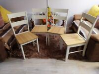 4 dining chairs (mint condition)