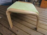 Ikea Poang lime suede footstool