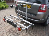 THULE BIKE CARRIER FOR TOWBALL MOUNTING - HARDLY USED - 2/3 BIKES