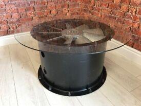 Industrial Fan Motor Salvaged Coffee Table