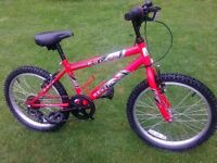 "Boys Mountain Bike 20"" with 6 gears ,stand, bottle holder. (2)"