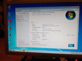 Compaq cpu desktop. Windows 7 pro with office.
