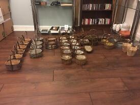 Assorted baskets ideal for crafts, flower arrangers, Christmas decorations, etc.