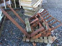 Pallet forks and backplate