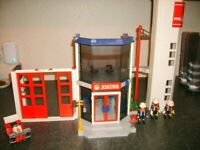 Playmobil 4819 Fire Station with 3 figures