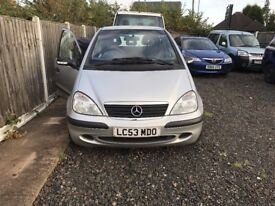 Mercedes Benz A CLASS 1.6 SILVER 2003 OR PART EXCHANGE WELCOME