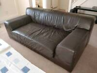 Ikea 3 seater leather sofa