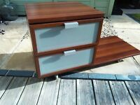 Ikea Bedside Cabinet Table Drawers
