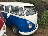 1975 Classic VW Blue Campervan 1.5 Petrol - 50km only - completely rebuilt - £1000 spent