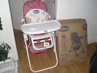 CHICCO BABY HIGHCHAIR 6 MONTHS + (BOXED)