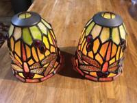 Tiffany dragonfly lamp shades x2