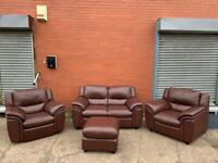 Real leather sofa set delivery 🚚 sofa suite couch furniture