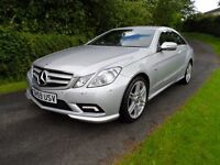 Mercedes NEW SHAPE E350 BLUEF-CY SPORT CDI AUTOMATIC COUPE MET SIVER