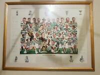 Signed Celtic legends framed photograph