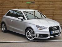 Audi A1 1.4 TFSI S Line 3dr FULL AUDI SERVICE HISTORY (ice silver metallic) 2011