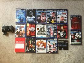 PlayStation 2 Games x 14 with Controller PS2