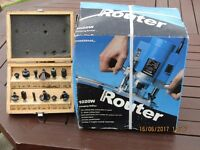 Powerbase 1020W Plunging Router and Bits - never used