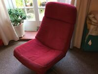 IKEA red cord swivel easy chair