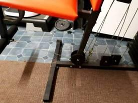 Weight bench and leg equipment
