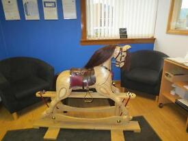 New Handmade Wooden Rocking Horse