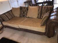 Pair of extra large sofas, will split