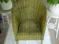 Childs Wicker Chair - Lovely green shade - Many Photos - Moulton Location