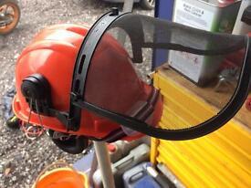 Chain saw helmet