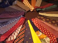 Selection of designer silk ties