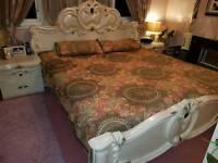 Italian king size bed set