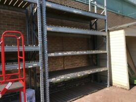 PALLET RACKING AT THE CHEAPEST UK PRICES 3 BAY RUN £150 3 TON SHELVES