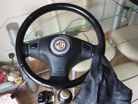 MG rover Leather STEERING WHEEL for 45 25 ZR ZS MGF automatic manual