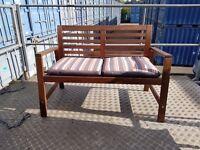 Bench outdoor IKEA ÄPPLARÖ with cushion