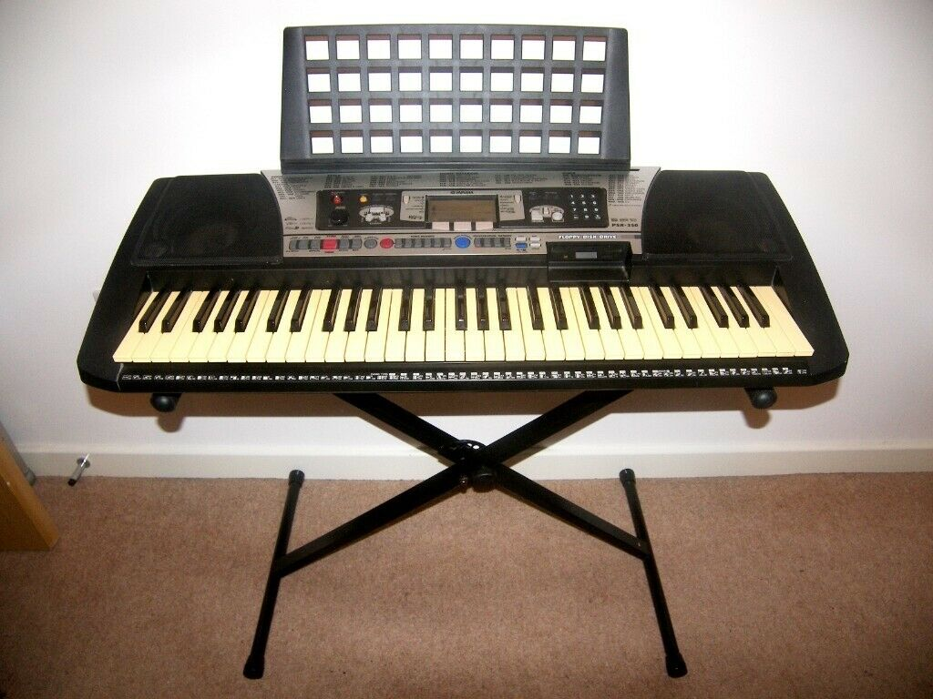 Yamaha PSR 350 , 61 Keys Piano Keyboard , 618 Voices , 100 Drum Styles ,  6-track sequencer and Stand | in Bristol | Gumtree