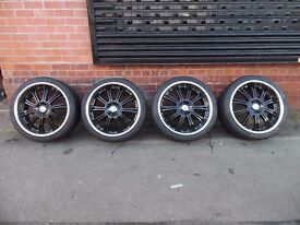 "22"" WOLFRACE ALLOY WHEELS AND TYRES SET OF 4. MAKE AN OFFER"