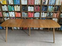 Ercol extending plank dining table natural finish blue label vintage UK delivery gplanera